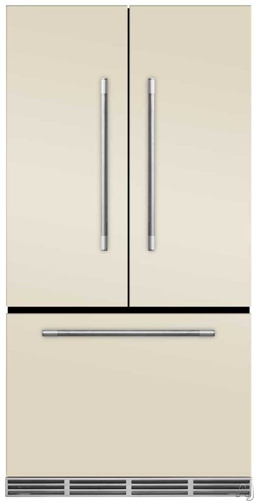 AGA Mercury MMCFDR23IVY 36 Inch Counter Depth French Door Refrigerator with Storage Drawer with 12 Temperature Settings, Ice Maker, Ice/Water Filters, Cantilever Glass Shelves, Gallon Door Storage, Wine Rack, Can Racks, Star-K Sabbath Mode and 2.6 cu ft C