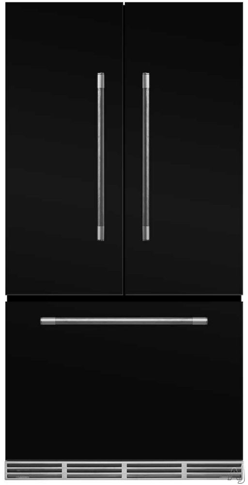 AGA Mercury MMCFDR23BLK 36 Inch Counter Depth French Door Refrigerator with Storage Drawer with 12 Temperature Settings, Ice Maker, Ice/Water Filters, Cantilever Glass Shelves, Gallon Door Storage, Wine Rack, Can Racks, Star-K Sabbath Mode and 2.6 cu ft C