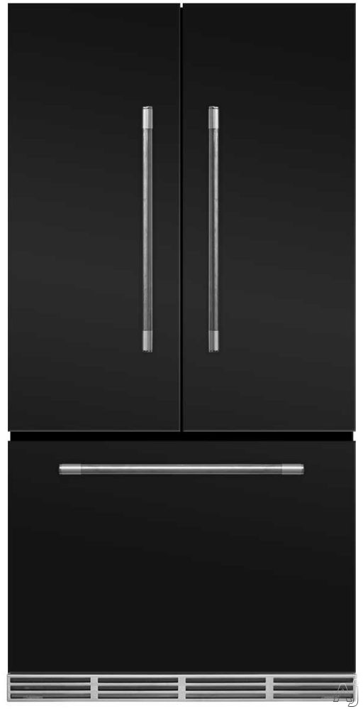 AGA Mercury MMCFDR23MBL 36 Inch Counter Depth French Door Refrigerator with Storage Drawer with 12 Temperature Settings, Ice Maker, Ice/Water Filters, Cantilever Glass Shelves, Gallon Door Storage, Wine Rack, Can Racks, Star-K Sabbath Mode and 2.6 cu ft C