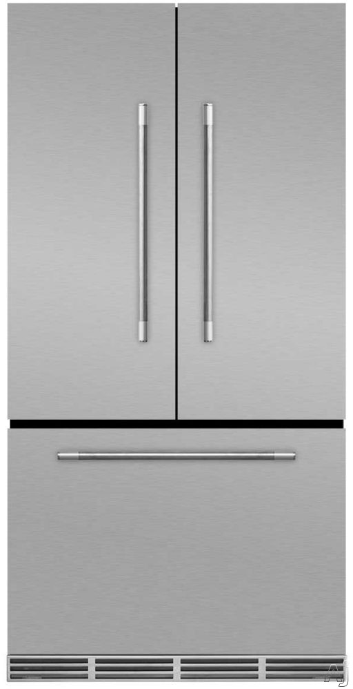 AGA Mercury MMCFDR23 36 Inch Counter Depth French Door Refrigerator with Storage Drawer with 12 Temperature Settings, Ice Maker, Ice/Water Filters, Cantilever Glass Shelves, Gallon Door Storage, Wine Rack, Can Racks, Star-K Sabbath Mode and 2.6 cu ft Capa