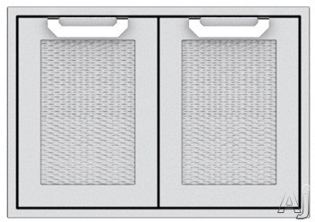 Hestan AGAD30RDBG 30 Inch Double Storage Doors: Tin Roof