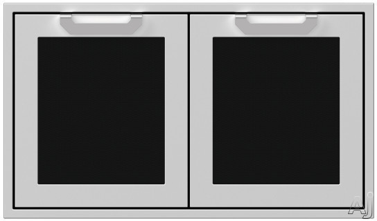 Hestan AGAD36BK 36 Inch Double Storage Doors with Welded Body Construction, Commercial Grade Handles and Soft Close Door Hinges: Stealth