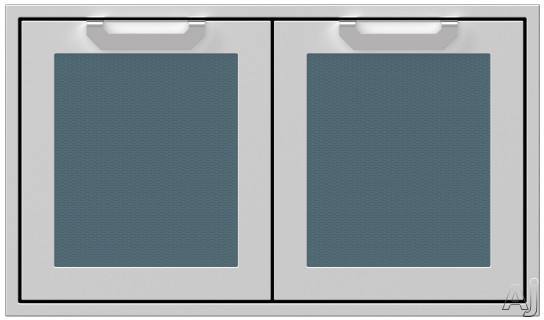 Hestan AGAD36DG 36 Inch Double Storage Doors with Welded Body Construction, Commercial Grade Handles and Soft Close Door Hinges: Pacific Fog