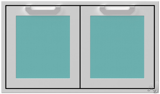 Hestan AGAD36TQ 36 Inch Double Storage Doors with Welded Body Construction, Commercial Grade Handles and Soft Close Door Hinges: Bora Bora