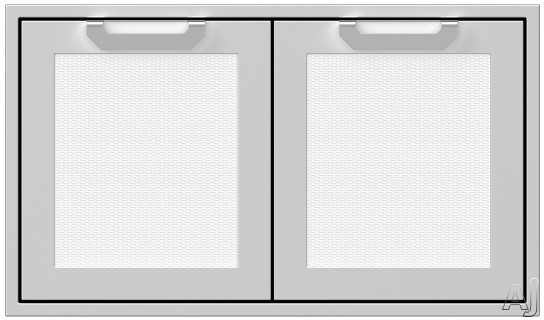 Hestan AGAD36WH 36 Inch Double Storage Doors with Welded Body Construction, Commercial Grade Handles and Soft Close Door Hinges: Froth