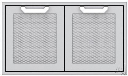 Hestan AGLP36BG 36 Inch Double Sealed Pantry Storage Doors: Tin Roof