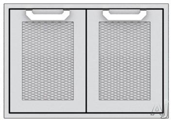 Hestan AGSD36BG 36 Inch Double Storage Doors: Tin Roof