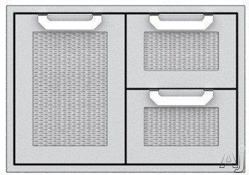 Hestan AGSDR36BG 36 Inch Double Drawer and Storage Door Combination: Tin Roof