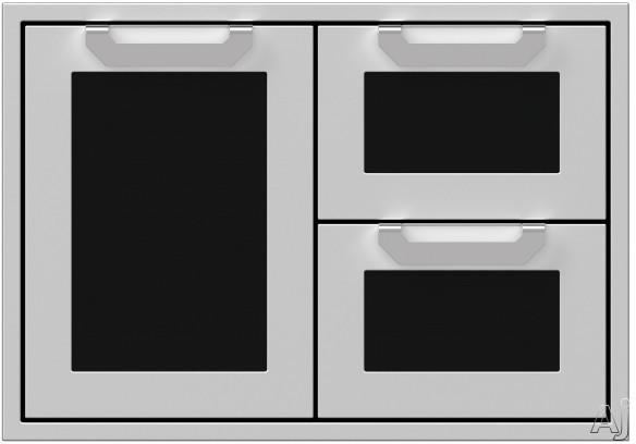 Hestan AGSDR30BK 30 Inch Double Drawer and Storage Door Combination: Stealth