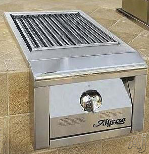 Alfresco AGSZ 14 Inch Built In Single Ceramic Sear Burner with Stainless Steel Construction Knob Control and Cover Included