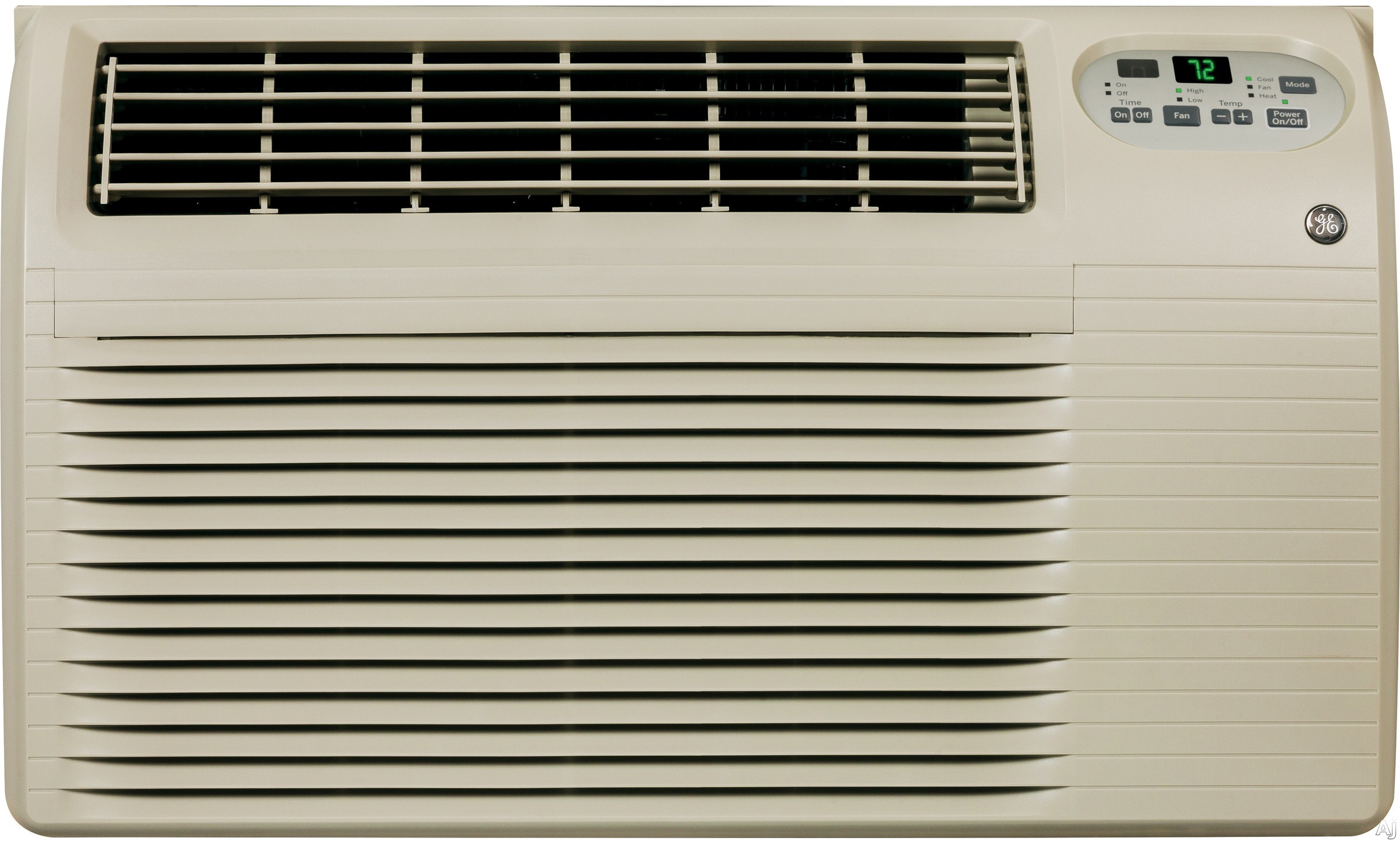 GE AJEQ08ACF 8,200 BTU Thru-the-Wall Air Conditioner with 3,900 BTU Electric Heat, 10.0 EER, R-410A Refrigerant, 1.9 Pts/Hr Dehumidification, ADA Compliant, 24 Hour Timer and Remote Control AJEQ08ACF