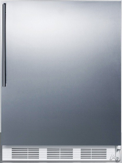 Picture of AccuCold ALF620BISSHV 24 Inch Undercounter Freezer with 3 Removable Storage Baskets Manual Defrost -25C Capable and ADA Compliant Stainless Door with Vertical Thin Handle