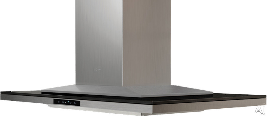 Zephyr Arc Layers Collection ALLM90BBX 36 Inch Island Chimney Range Hood with Blower Options, Glass Touch Controls, Tri-Level LED Lighting, Wireless Remote Control and Recirculating Option: 36 Inch Black Glass ALLM90BBX