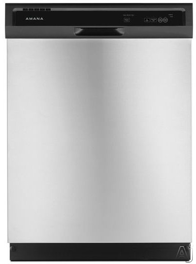 Amana ADB1400AG Full Console Dishwasher with Triple Filter Wash 1 Hour Wash Heated Dry Option 3 Wash Cycles 2 Options High Temperature Option 12 Place Setting Capacity Silence Rating of 63 dBA and ENE