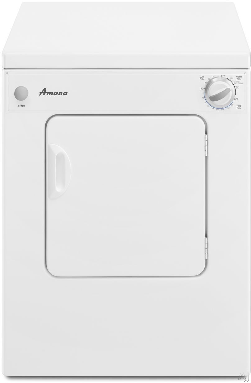 Picture of Amana NEC3120FW 24 Inch 34 cu ft Electric Dryer with 3 Dry Cycles Automatic Dryness Control Air Only Cycle Timed Cycle End of Cycle Signal and ADA Compliant