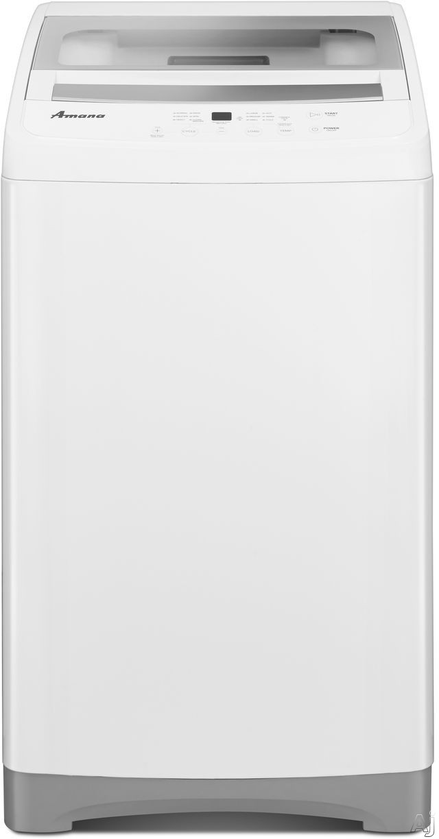 Amana NTC3500FW 21 Inch 1.5 cu. ft. Top Load Washer with 6 Wash Cycles, 3 Temperature Settings, Stainless Steel Tub, Quiet Wash Motor and End of Cycle Signal NTC3500FW