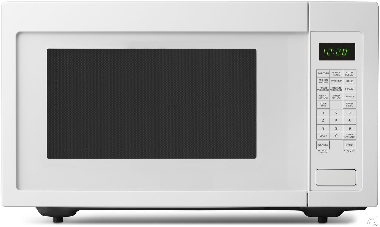 Picture of Amana AMC4322GW 22 cu ft Countertop Microwave with Sensor Cooking Add 30 Seconds 9 Preprogrammed Options 10 Power Levels 1200 Cooking Watts Control Lock Auto Defrost and 22 cu ft Capacity White
