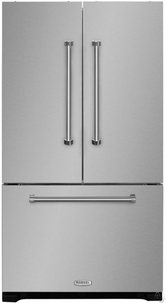 AGA Professional Series AMPROFD23SS 36 Inch Counter Depth French Door Refrigerator with Temperature Controlled Drawer, Tri-Level Organization, Ice/Water Filters Cantilever Glass Shelves, Wine Rack, Can Racks, Star-K Sabbath Mode, Theater Lighting and 22.6