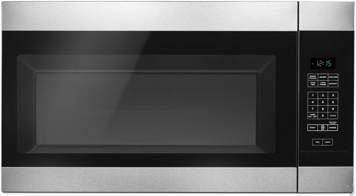"AMV2307PF 30"""" Over the Range Microwave offers 1.6 cu. ft. Capacity  300 CFM Ventilation  2 Speed Fan  12 Inch Turntable  Auto Defrost and Cooktop Surface Light"" 714068"