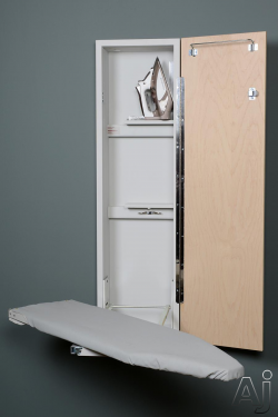 Iron-A-Way ANE42 42 Inch Ironing Center with 90-¦ Swivel Ventilated Board, Iron Storage, Storage Shelves and Hanger Bar