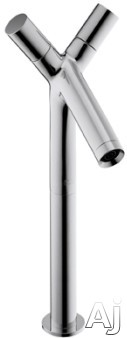 "Hansgrohe Axor Starck Series 10050001 Double Knob Vessel Faucet with 4-1 / 8"" Reach, 13-1 / 4"", U.S. & Canada 10050001"