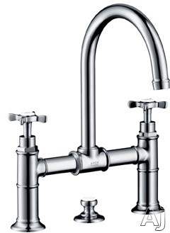 "Hansgrohe Axor Montreux Series 16510821 Double Cross Handle Lavatory Faucet with 6-7 / 8"" Reach, U.S. & Canada 16510821"