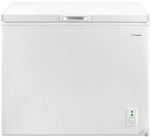 Picture of Amana AQC0902DRW 90 cu ft Capacity Compact Chest Freezer with 2 Wire Baskets Deepfreeze Technology Leg Levelers and 4 Built-In Rollers
