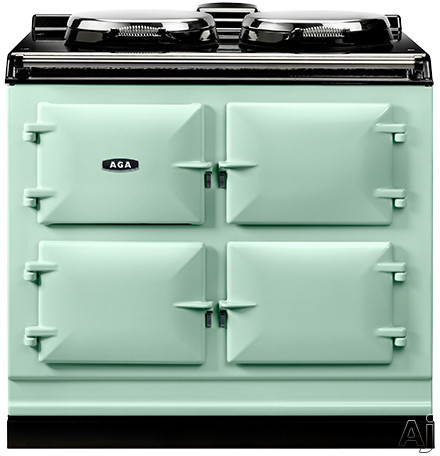 AGA ADC3EAQU 39 Inch Freestanding Electric Cooker with Boiler Hot Plate Simmering Hot Plate Roasting Oven Baking Oven Slow Cook Oven and Insulated Covers Aqua
