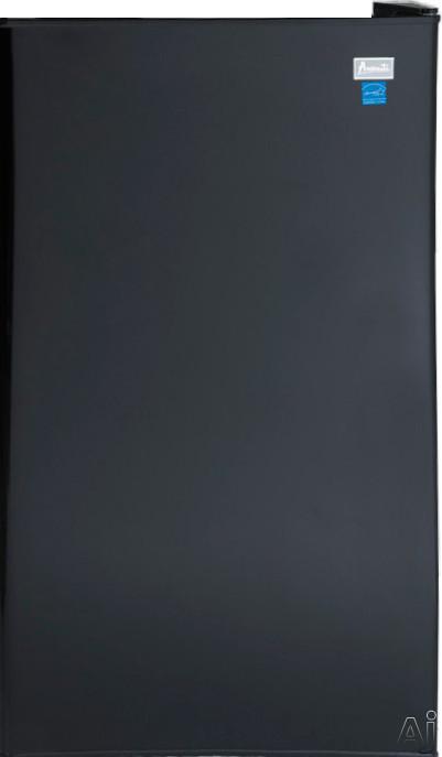Avanti AR321BB 32 cu ft Compact Refrigerator with 3 Adjustable Glass Shelves 4 Door Bins 1 2 Liter Bottle Door Bin Mechanical Thermostat Dial Automatic Defrost and Reversible Door