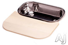 Franke Artisan Series AR40C Small Solid Wood Cutting Board (Shown with Colander AR-70S)