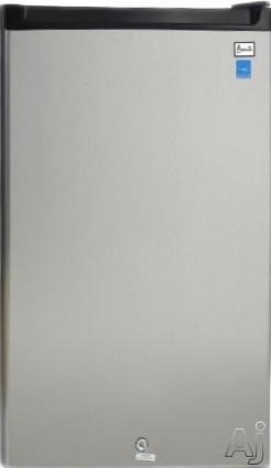 Avanti Ar4456ss 45 Cu Ft Compact Refrigerator With 2 Adjustable Glass Shelves 1 Glasscovered Crisper Drawer 2 Door Bins 1 2liter Bottle Door Bin Mechanical Thermostat Dial Automatic Defrost And Reversible Door image