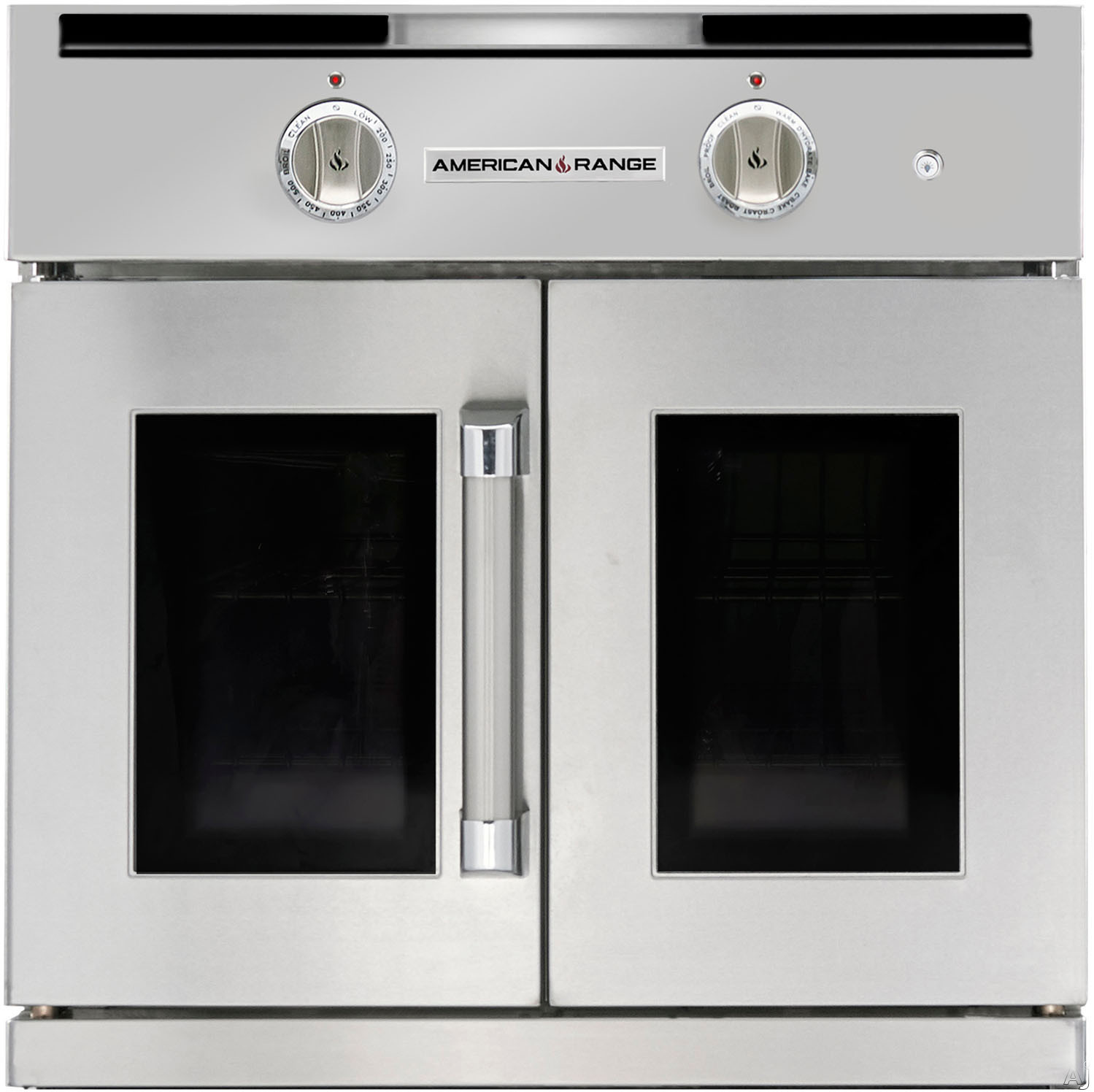 American Range Legacy Series AROFG30 30 Inch Single French Door Gas Wall Oven with 4.7 cu. ft. Capacity, Innovection Convection, Manual Clean, Infrared Broiler and Porcelainized Interior