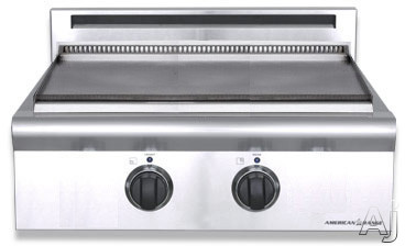 American Range Legend Series ARSCT242GD 24 Inch Pro-Style Gas Griddle Rangetop with 22 Inch Wide Griddle, Analog Controls, Blue LED Lights and Fail-Safe System