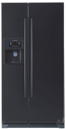 Bosch Refrigerator - Bosch Evolution 500 Series B20CS51SNB 20.2 Cu Ft Counter-Depth Side-by-Side Refrigerator With 3 Slide-Out Spill Proof Glass Shelves Multi-Flow Shower Cooling