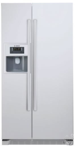 Bosch Refrigerator - Bosch Evolution 500 Series B20CS51SNW 20.2 Cu Ft Counter-Depth Side-by-Side Refrigerator With 3 Slide-Out Spill Proof Glass Shelves Multi-Flow Shower Cooling
