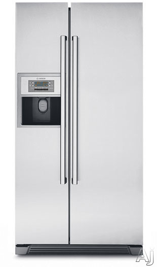 Bosch Refrigerator - Bosch Evolution 800 Series B20CS81SN 20.0 Cu Ft Counter-Depth Side-by-Side Refrigerator With 3 Slide-Out Spill Proof Glass Shelves Multi-Flow Shower Cooling