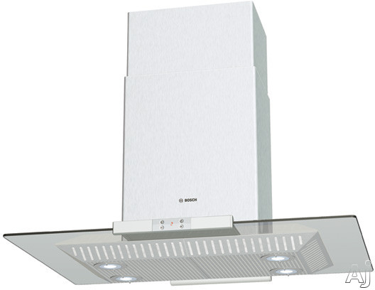 Bosch Lights - Bosch DIE165RUC Island Mount Chimney Hood With 600 CFM Internal Blower 4 Fan-Speed Settings And 4 Halogen Surface Lights