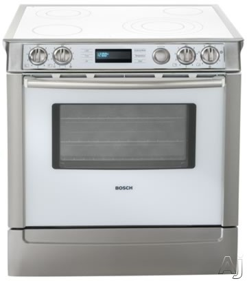 """Bosch Integra 700 Series HEI7132U 30"""" Slide-In Electric Range With Genuine European 3rd Element Convection Touch & Turn Controls Full Extension Warming Drawer"""
