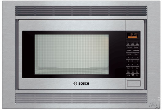 Bosch 500 Series HMB5050 2.1 cu. ft. Built-in Microwave with 1,200 Cooking Watts, 10 Power Levels, Sensor Cooking and Touch Control with Amber Display: Stainles