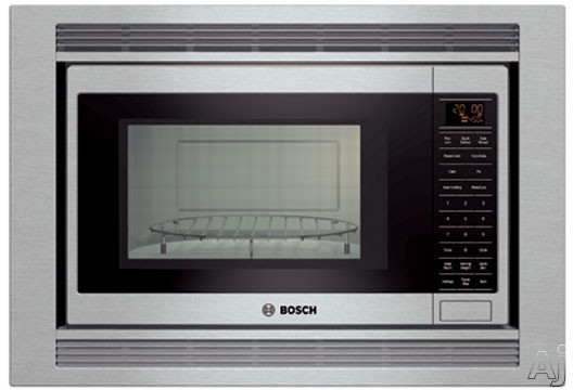 Bosch 800 Series HMB8050 1.5 cu. ft. Built-in Microwave with 1,000 Cooking Watts, Convection Cooking, 10 Power Levels, Sensor Cooking and Touch Control with Amb