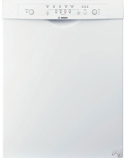Bosch Dishwashers - Bosch Ascenta Series SHE4AM02UC Full Console Dishwasher With 4 Wash Cycles ECOSENSE Delay Start EASYLOAD Standard Racks And 57 DBA Silence Rating White