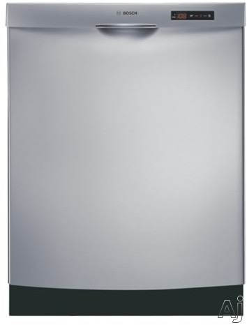 Dishwashers - Bosch Evolution 800 Series SHE58C05UC Semi-Integrated Dishwasher With 5 Wash Cycles Platinum Premium Racks EXXACT Wash 19 Hours Delay Start & Silence Rating