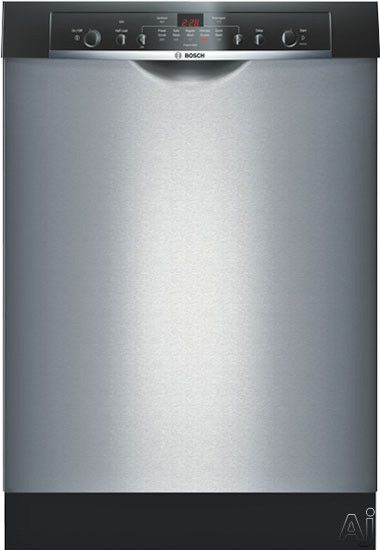Bosch Dishwasher - Bosch Ascenta Series SHE5AM05UC Full Console Dishwasher With 5 Wash Cycles ECOSENSE OPTIDRY Delay Start Half Load Option Mid EASYLOAD Racks LED Display An