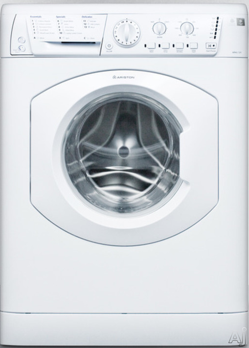 Ariston ARWL129NAADA 24 Inch Front Load Washer with 16 Wash Cycles 1 200 RPM Spin Speed Start Pause Function Delay Start Stainless Steel Drum and ADA Compliant
