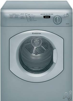 Ariston Elegance Line TVF63X 24 Inch Dryer with 353 cu ft Capacity 16 Dry Cycles Wool Program Sensor Dry Delay Timer Stainless Steel Drum and Digital Display