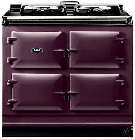 AGA ADC3EAUB 39 Inch Freestanding Electric Cooker with Boiler Hot Plate Simmering Hot Plate Roasting Oven Baking Oven Slow Cook Oven and Insulated Covers Aubergine