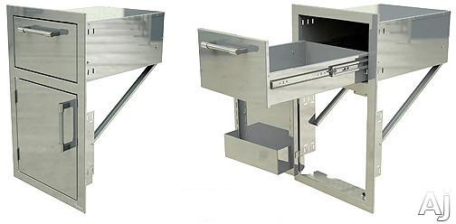 Alfresco Axeddrl 17 Inch Drawer And Door Combo Unit: Left Door