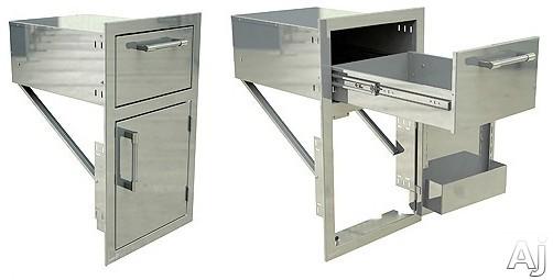 Alfresco Axeddrr 17 Inch Drawer And Door Combo Unit: Right Door