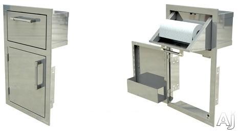Alfresco Axedth 17 Inch Paper Towel Holder And Door Combo Unit