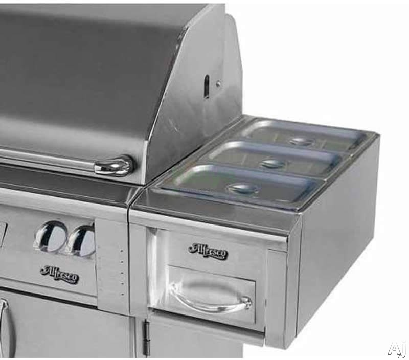 Alfresco AXEFWC 14 Inch Cart Mount Food Warmer and Steam Table
